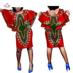 Beautiful African Women's Wax Dashiki Print African Dresses for Women Plus Size Elegant Long Butterfly Sleeve Casual Dress African Print Dress Designs, African Print Dresses, African Dresses For Women, African Print Fashion, African Wear, African Attire, Clothes For Women In 20's, Beautiful African Women, African Blouses