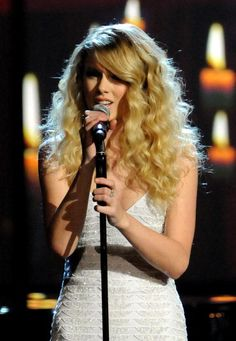 Singer Taylor Swift onstage during the 2008 American Music Awards held at Nokia Theatre LA LIVE on November 23 2008 in Los Angeles California
