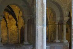 Salle capitulaire (XIIIe), cloître gothique, monastère royal de Santa María de Veruela, Vera de Moncayo, province de Saragosse, Aragon, Espagne. #Aragon