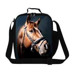New Design Horse Printing Lunch Bag Kids Lancheira Termica Infantil Picnic Food Bag Thermal Instulated Lunch Box For Working Art Phone Cases, Iphone Cases, Phone Cover, Kids Lunch Bags, Lunch Box, Plush Horse, Horse Pattern, Iphone 5c, Backpack Bags