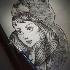 """Creative overdose... #drawing #illustration #draw #creative #design #brazildesign #nanquin #draw #artwork #ink"""