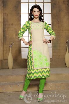 http://www.mangaldeep.co.in/latest-kurties/pleasing-cream-parrot-green-cotton-partywear-readymade-kurti-7081 For more details contact us : +919377222211 (whatsapp available)