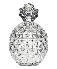 Look at this #zulilyfind! Pinapple Crystal Covered Box #zulilyfinds