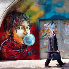 "Street Art News: ""Nina"" New Mural - Paris, France Murals Street Art, 3d Street Art, Urban Street Art, Best Street Art, Amazing Street Art, Street Art Graffiti, Street Artists, Urban Art, Maya Art"