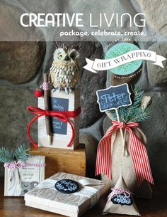 Creative Living - Holiday Gift Wrapping 2014 magazine.  Wrap up the holidays with creative gift wrapping inspiration from Creative Bag.