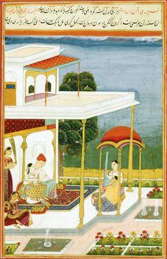 Bairadi Ragini. Gouache heightened with gold on paper, India, Deccan, Hyderabad, ca. 1760
