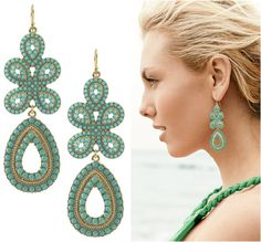 LOVE from Stella & Dot > Turquoise Capri Chandelier Earrings