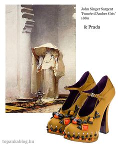 Painting by John Singer Sargent, shoes by Prada