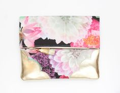 BLOSSOM 65 / Floral fabric & Natural leather by DDSLLGirlsStore