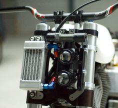 Fork mounted oil cooler