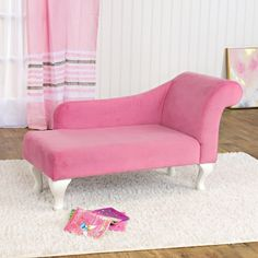 Toddler Chaise Lounge Chair PInk Velvet Girl Playroom Accent Youth Furniture for sale online Kids Sofa, Toddler Chair, Most Comfortable Office Chair, Adirondack Chairs For Sale, Lounge, Daughters Room, Vintage Chairs, Little Girl Rooms, Sofa Furniture