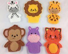 Artículos similares a Títeres de dedo animales para los niños pequeños y niños Títeres Marionetas - dedo Títeres - juguetes infantiles - juguetes de los cabritos - dedo animales Crocheted en Etsy