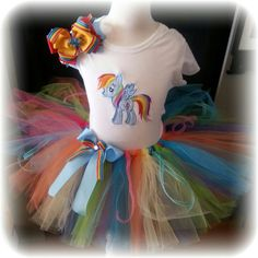 PONY rainbow dash tutu