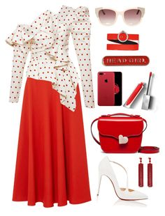 """""""Untitled #2644"""" by ebramos ❤ liked on Polyvore featuring Maison Margiela, Christian Louboutin, Marni, Burberry, Topshop, Mulberry and Christian Dior"""