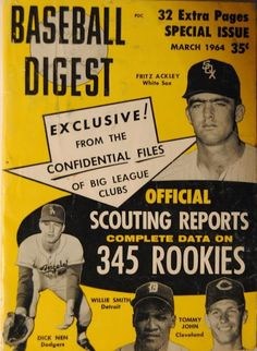 Sports Magazine Covers: Fritz Ackley, Dick Nen, Willie Smith, Tommy John