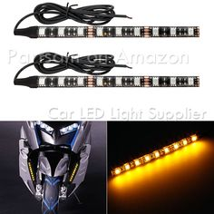 2 x 12V LED DRL DAY LIGHTS WITH SIGNAL INDICATORS E4 UNIVERSAL CAR VAN PICKUP CAMPER 4x4 MOTORHOME OFFROAD BUS TRUCK LORRY TRAILER ATV CUSTOM PROJECT