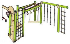 Basketball Hoop with Backboard and Net. Looking for different features in a Playground? Ninja Wall with Rock Climbing Holds. Backyard Jungle Gym, Kids Backyard Playground, Backyard For Kids, Diy Monkey Bars, Ninja Warrior Course, American Ninja Warrior, Backyard Obstacle Course, Kids Obstacle Course, Outdoor Gym
