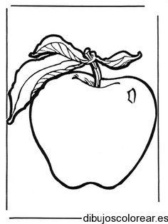 Dibujo de una manzana en un cuadro