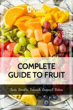 This incredible guide to fruit will blow your mind with fascinating fruit facts, fruit benefits, fruit tutorials, 200+ fruit recipes and videos. Protein Fruit Smoothie, Fruit Smoothie Recipes, Fruit Drinks, Smoothie Diet, Fruit Recipes, Raw Vegan Recipes, Vegan Food, Fruit Facts, Fruit List