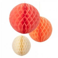 Pak met 3 honeycomb bollen Blush