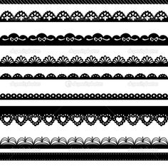 Find Set Handdrawn Lace Paper Punch Borders stock images in HD and millions of other royalty-free stock photos, illustrations and vectors in the Shutterstock collection. Border Pattern, Lace Border, Pattern Design, Hand Drawn Border, Lace Drawing, Gothic Pattern, Main Image, Vector Border, Mehndi Style