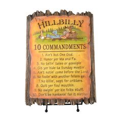 HILLBILLY COMMANDMENTS