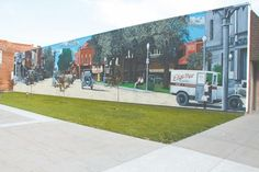 Pictured above is Chillicothe's 19th historical mural which was completed by local artist Kelly Poling on May 21. This mural features Edge-Mar Dairy trucks which was a local dairy in the 1940s and 1950s owned by Edgerton and Mary Welch, who were Bill Young's great-grandparents.