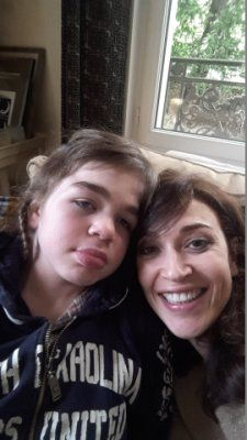 Karen Aiach and her daughter Ornella who was diagnosed with Sanfilippo Syndrom in 2009.