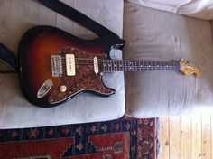 Squire Classic Vibe 60s model. Modded with Bare Knuckle Nantucket 90 and Bare Knuckle Mother's Milk pickups.