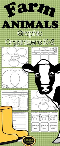 29 Graphic Organizers to aid students K-2 in their writing about farm animals. Perfect follow up for a field trip!
