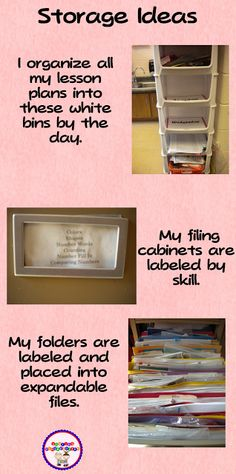 Simple, easy, and do-able way to to organize your classroom.
