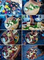 Afbeeldingsresultaat voor A variety of cured meats and pâtés accompanied by pickles, olives, and mostarda, round out our charcuterie board
