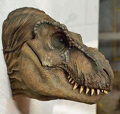 T-Rex T Rex Jurassic Park, Jurassic Park World, Toy Art, Dinosaur Head, Extinct Animals, Prehistoric Creatures, Tyrannosaurus Rex, Prehistory, Creature Design