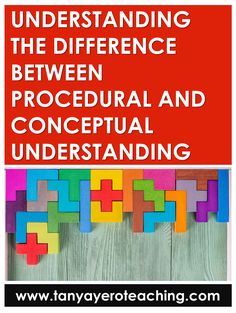 Learn the difference between the two types of understanding and how to provide opportunities of procedural and conceptual questioning in your classroom. Math Fact Fluency, Depth Of Knowledge, Math Questions, Teaching Math, Teaching Tips, Levels Of Understanding, Math Strategies, Math Word Problems, 1st Grade Math