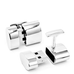 Polished Silver Oval WiFi and 2GB USB Cufflinks - 2GB USB storage & they provide a WiFi hotspot to multiple devices! thought this would be perfect for my Papa, until I saw the $250 price tag...