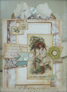 Synnøves papirverksted: Garden girl