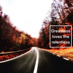 Greatness loves the relentless. Simple Blog, Robin Sharma, Relentless, Charms, Country Roads, Quote, Travel, Christians, Quotation