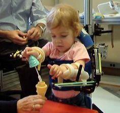 Toddler calls 3-D-printed medical exoskeleton her 'magic arms'