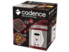 Panela de Pressão Elétrica Cadence Sabore 800W - 4L Inox e Vermelho com as melhores condições você encontra no Magazine Mirandamaravilha. Confira!