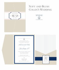 dani's details: Navy, Blush and a little Golf Wedding Invitation