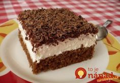 TĚSTO: 1 balíček prášku do pečiva 100 g cukru krupice 100 ml vody 200 ml oleje… Baking Recipes, Cake Recipes, Dessert Recipes, Czech Recipes, Mini Cheesecakes, Cupcakes, No Bake Cake, Sweet Recipes, Mousse