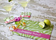 For the hostess! Happy hour or a monogram...www.snappy-turtle.