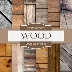 Urban Wood Digital Paper DP086 - Digital Paper Shop - 1