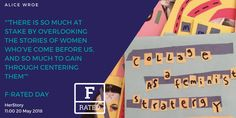 Herstory is a participatory project that straddles art, activism and education and uses feminist art to engage people of all genders with the women's history that has been systemically left out. Join founder Alice Wroe to learn about the project and explore why practicing women's history is urgent, political and empowering for all of us.