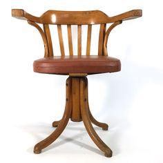 Chaise de bureau à vis  des années 50-60.