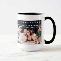 Custom Black 15 oz Ringer Mug Add Photo By ZAZZ_IT