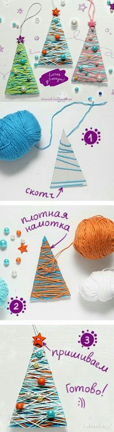 Simple and cute DIY Christmas crafts for kids - . Simple and cute DIY Christmas crafts for kids – Kids Crafts, Christmas Crafts For Kids, Christmas Activities, Homemade Christmas, Christmas Projects, Holiday Crafts, Diy And Crafts, Tree Crafts, Kids Diy