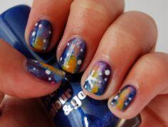 #nailart #nails #notd #galaxy #galaxynails #bluenails #stars #space #spacenails #aussienails #austrailiannails #starrynails Nailart, Galaxy, Beauty, Cosmetology
