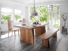 Baumtisch Kenai II | Baumtisch, Haus deko, Baumkantentisch