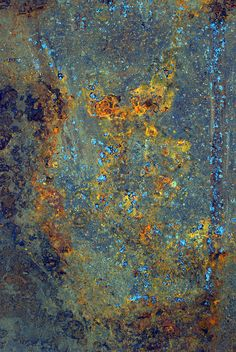 Texture - blue surface with rust Texture Metal, Texture Art, Abstract Backgrounds, Abstract Art, Peeling Paint, Rusty Metal, Abstract Photography, Textures Patterns, Color Inspiration